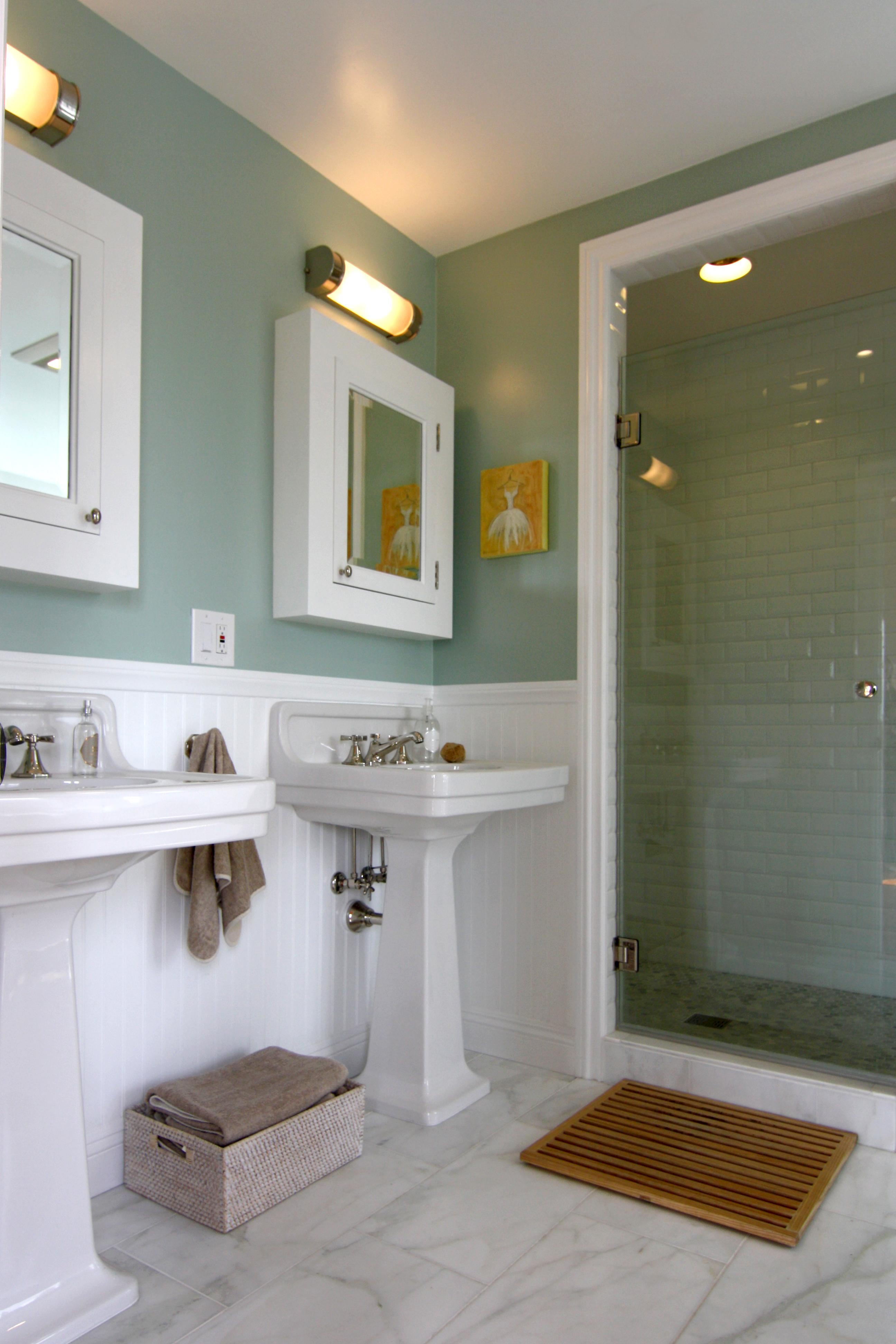 Marble floor tile bathroom - Bathroom Design Cabochon Collective